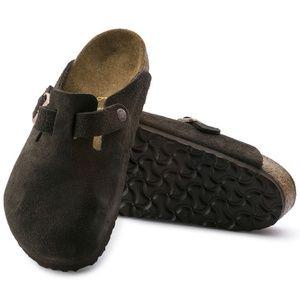 Boston Suede Leather Mocha Birkenstock's